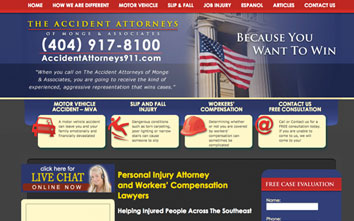 Monge and Associates Personal Injury Website